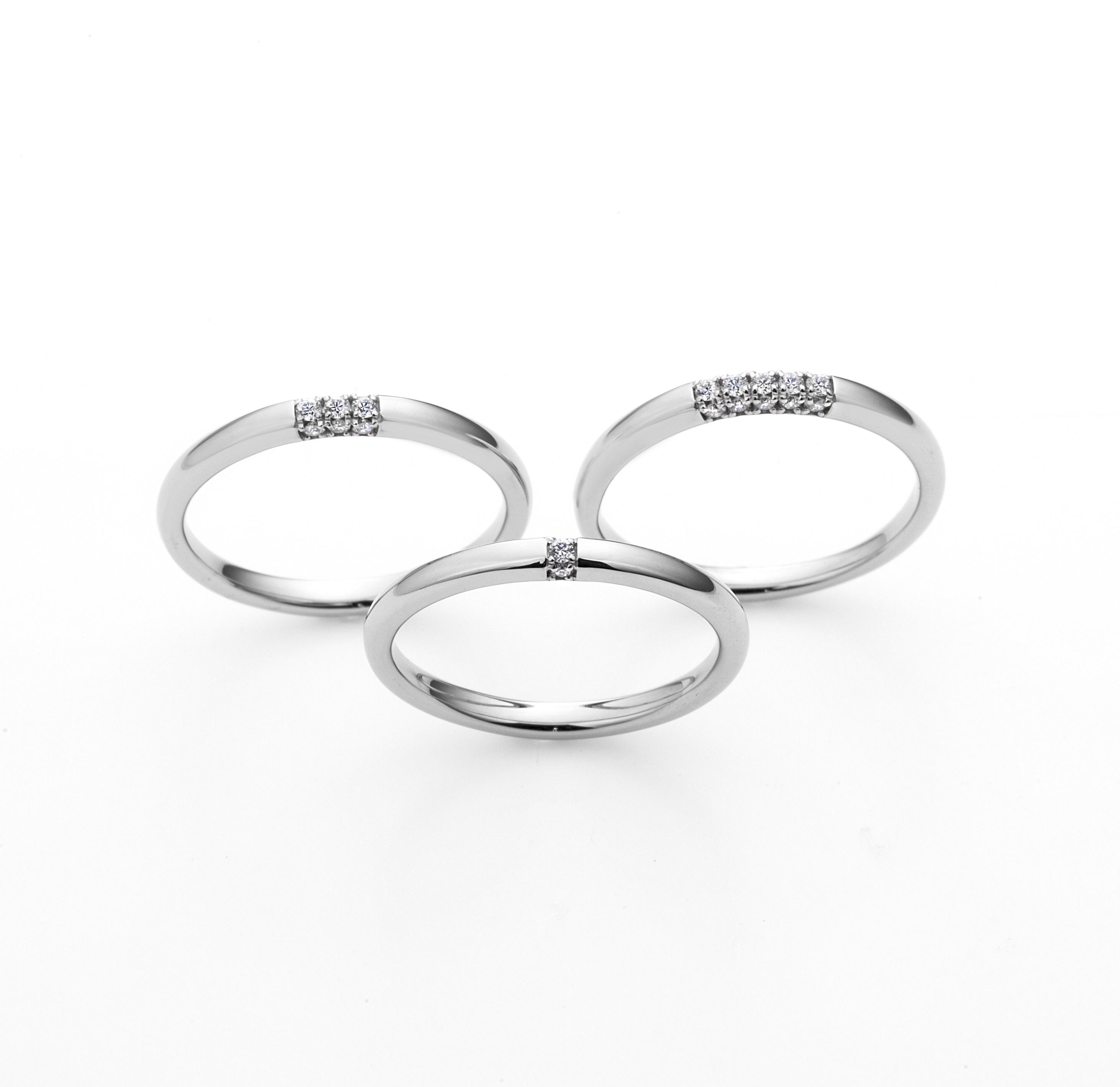 FH002PR・FH004PR/FH001PR|ラザールダイヤモンド 結婚指輪