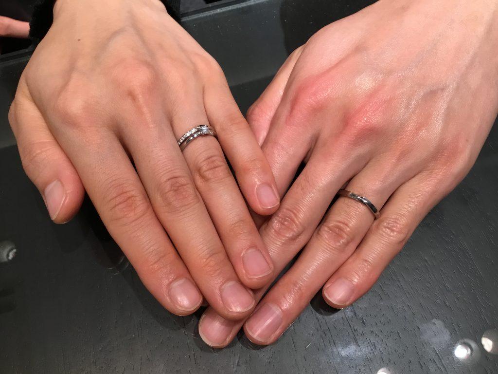 俄のご婚約指輪とご結婚指輪をお作り頂きました!