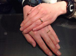 ラブボンド のご婚約指輪とカフェリングのご結婚指輪をお作り頂きました!