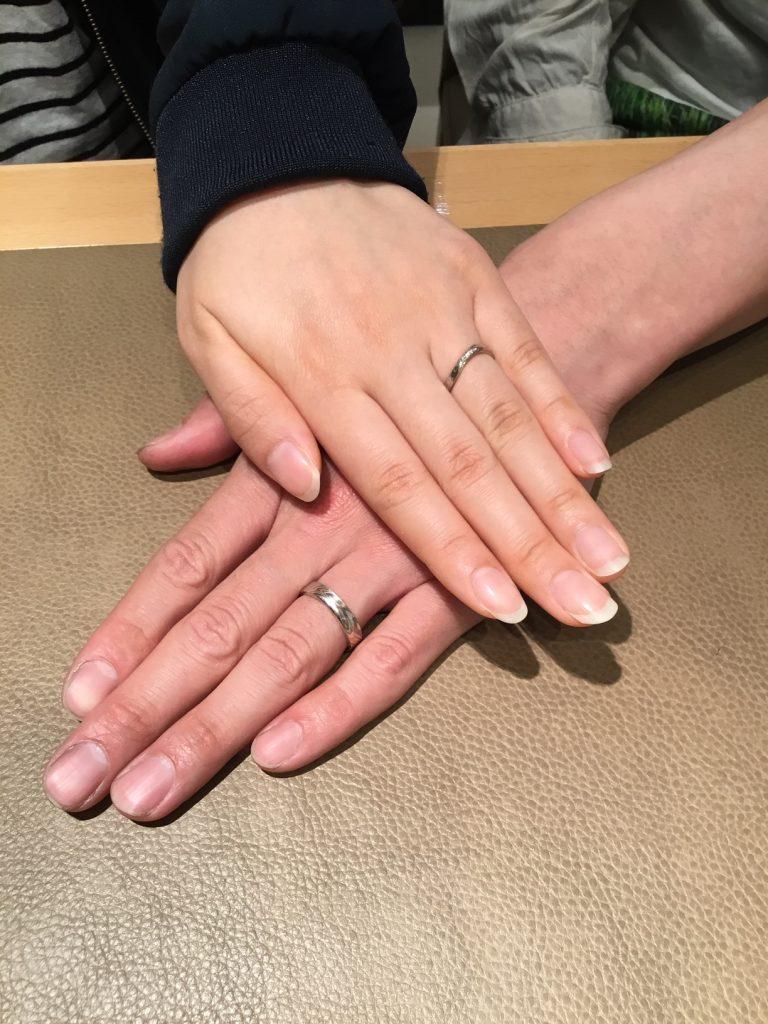 杢目金屋(もくめがねや)のご結婚指輪をお作り頂きました!