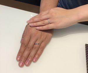 LUCIE のご結婚指輪をお作り頂きました!