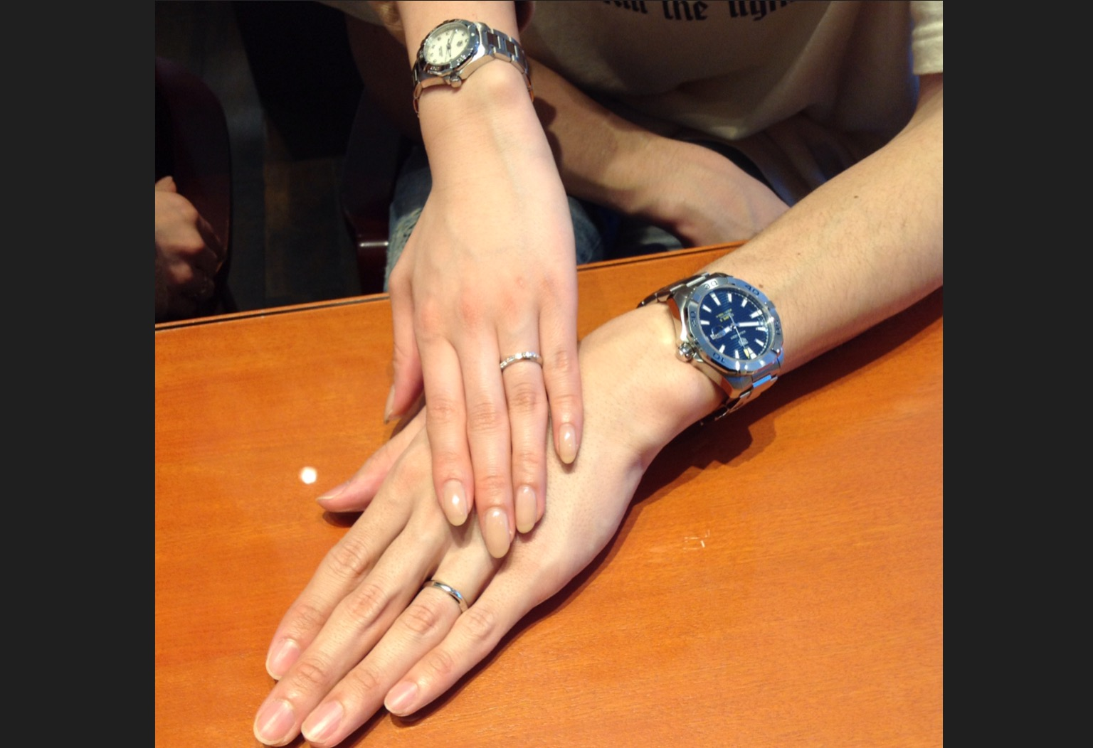 俄のご結婚指輪をお作り頂きました!