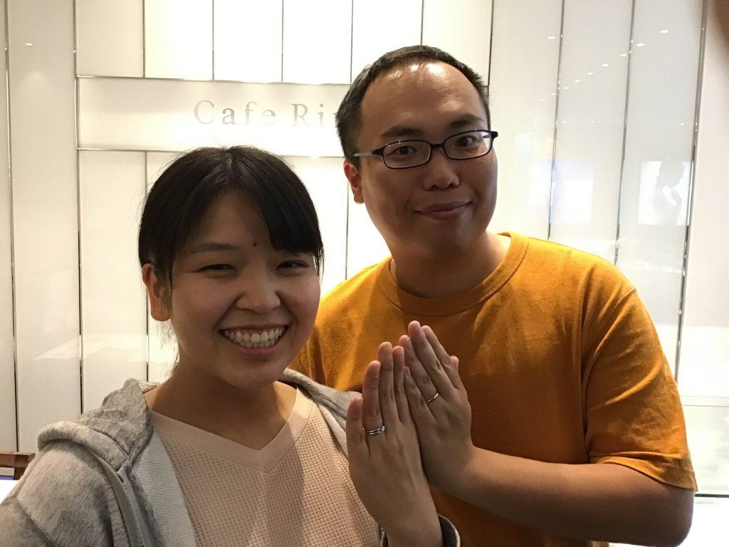 【飯田市】カフェリングのご結婚指輪をお作りいただきました!