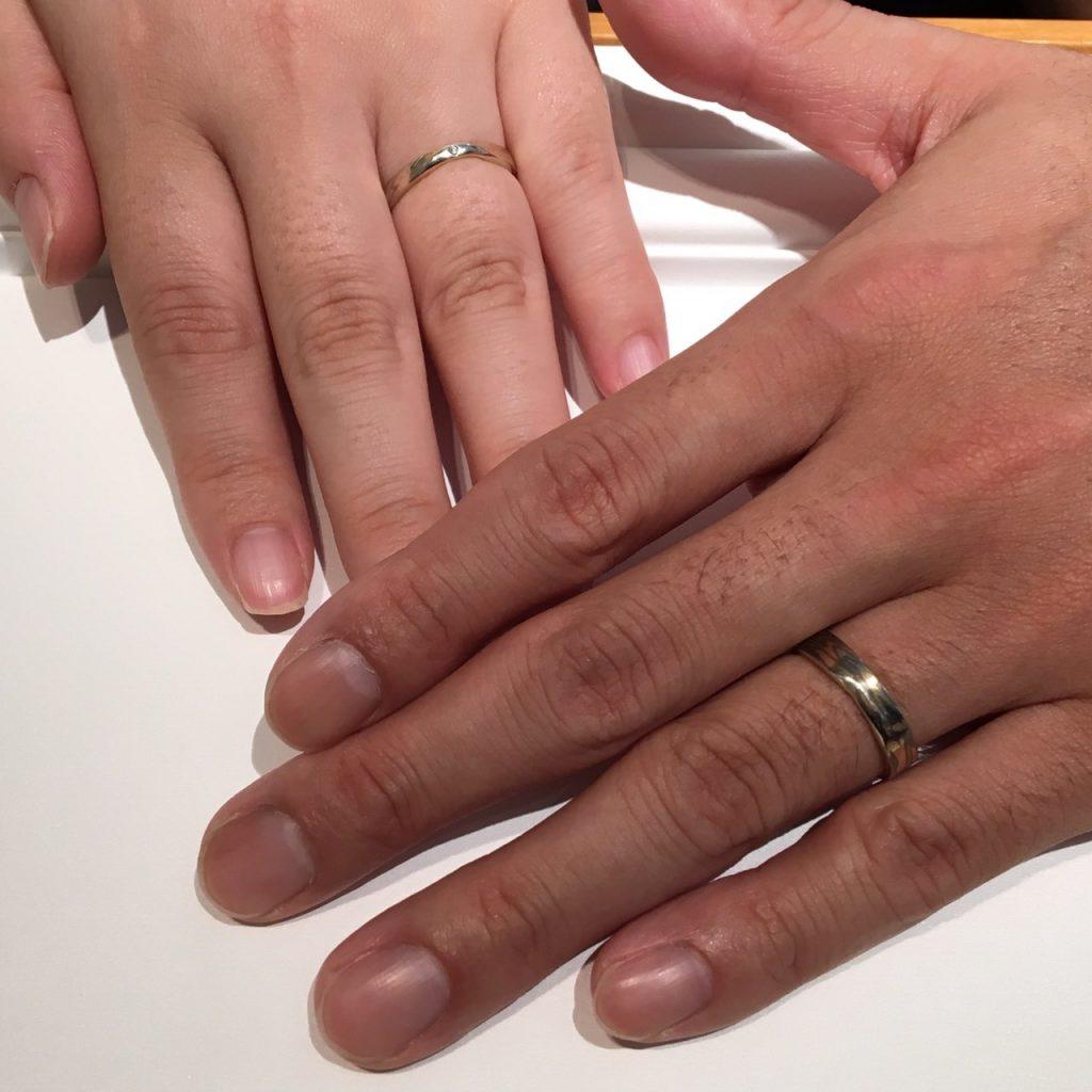 【長野市】杢目金屋(もくめがねや)のご結婚指輪をお作り頂きました!