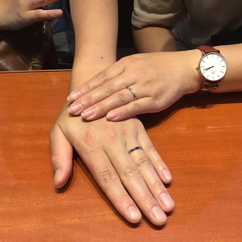 ロイヤルアッシャーのご結婚指輪をお作りいただきました!