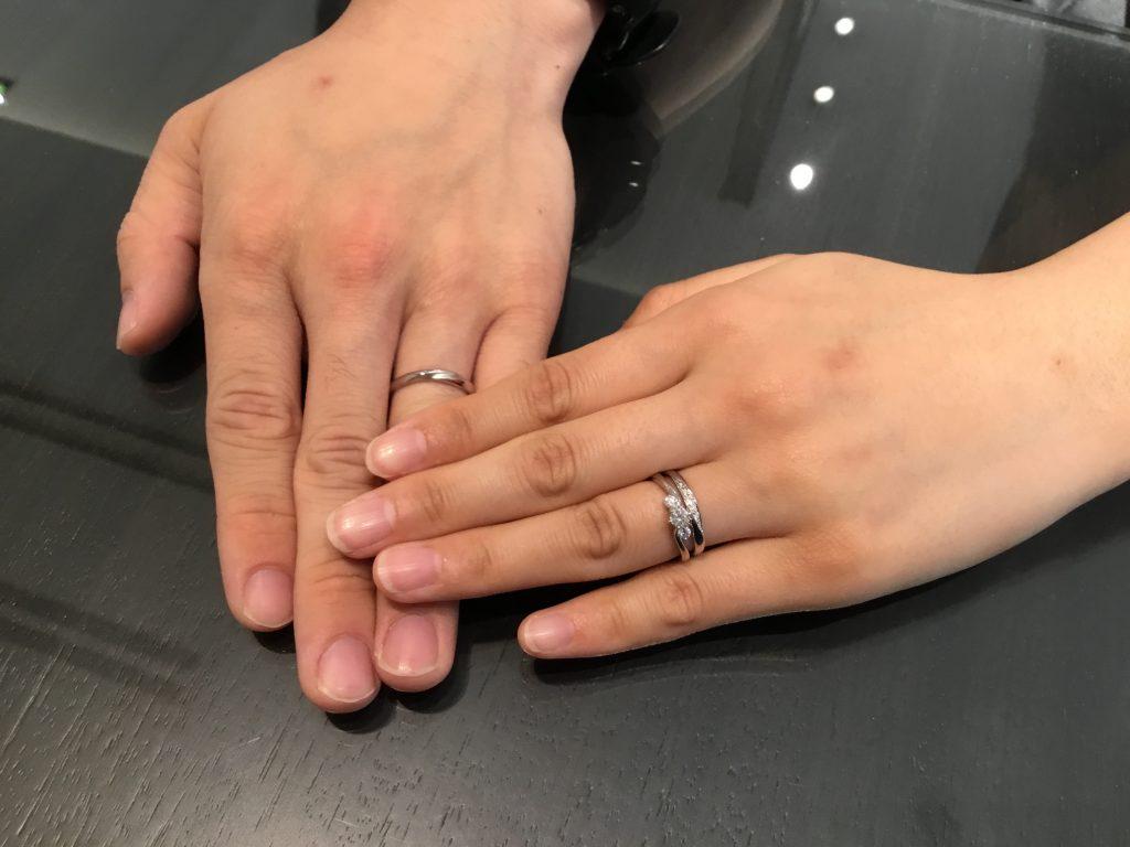 【長野市】カフェリングのご結婚指輪をお作り頂きました!