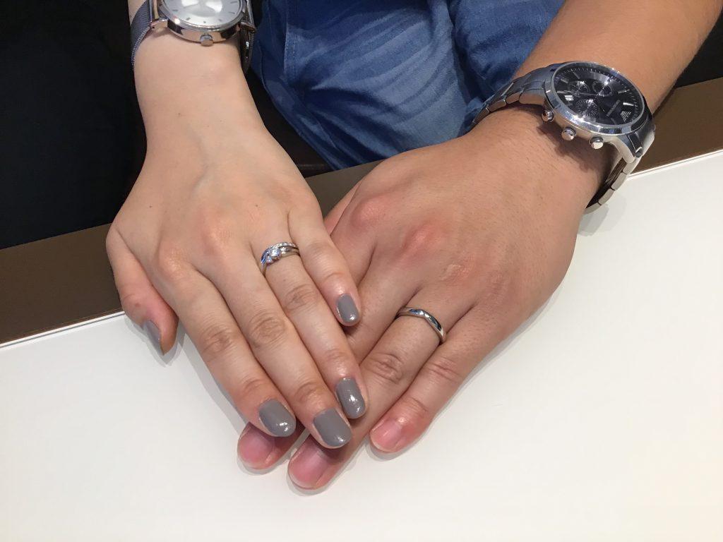 【飯田市】ロイヤル・アッシャーのご婚約指輪・ご結婚指輪をお作りいただきました!