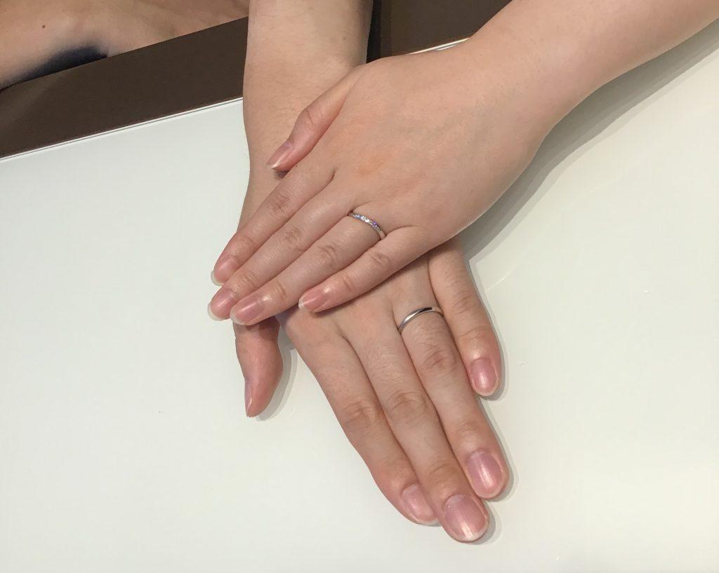 【飯田市】カフェリングのご結婚指輪をお作り頂きました!