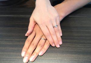 【飯田市】ロイヤルアッシャーダイヤモンドのご結婚指輪をお作り頂きました!