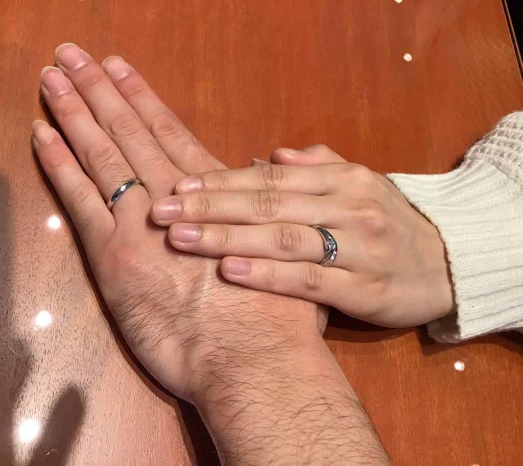 【飯田市】俄のご婚約指輪、ご結婚指輪をお作り頂きました!