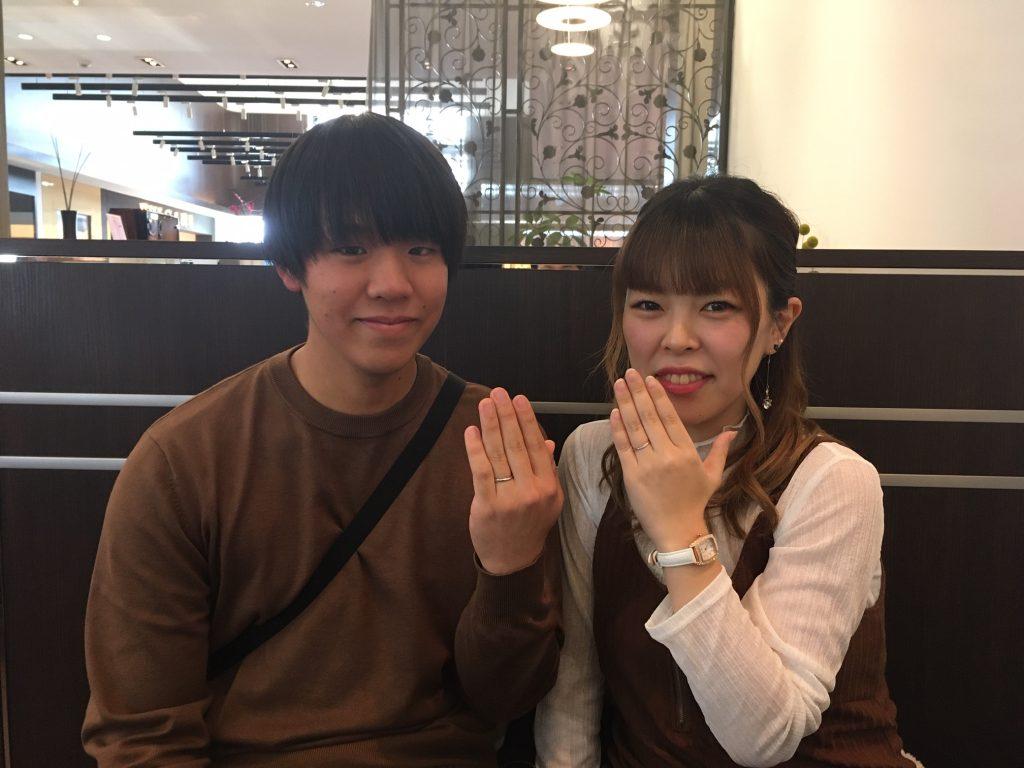 【上田市】LUCIEのマリッジリングをおつくり頂きました。