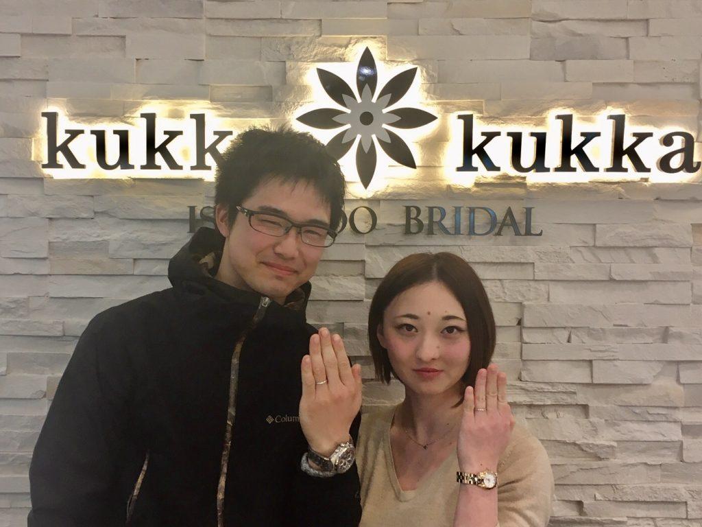 【長野市、池田町】kukka*kukkaのマリッジリングをおつくり致しました。