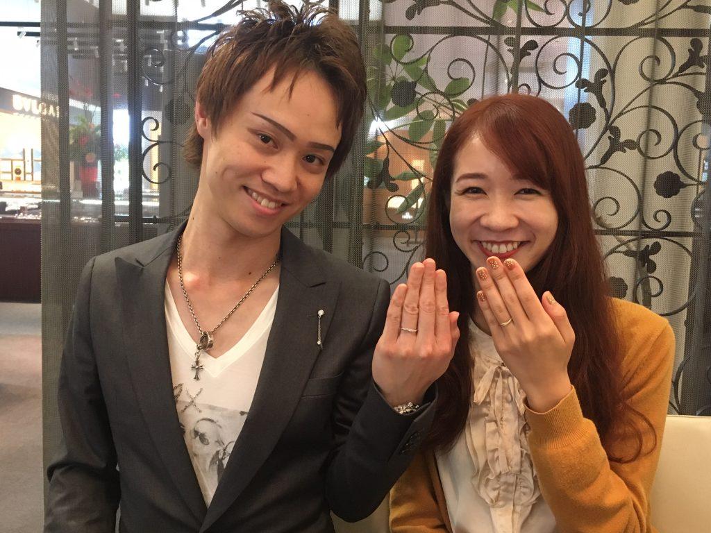 【長野市】AHKAHAの指輪をおつくり致しました。