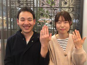【上田市】俄 京杢目のマリッジリングをおつくりしました。
