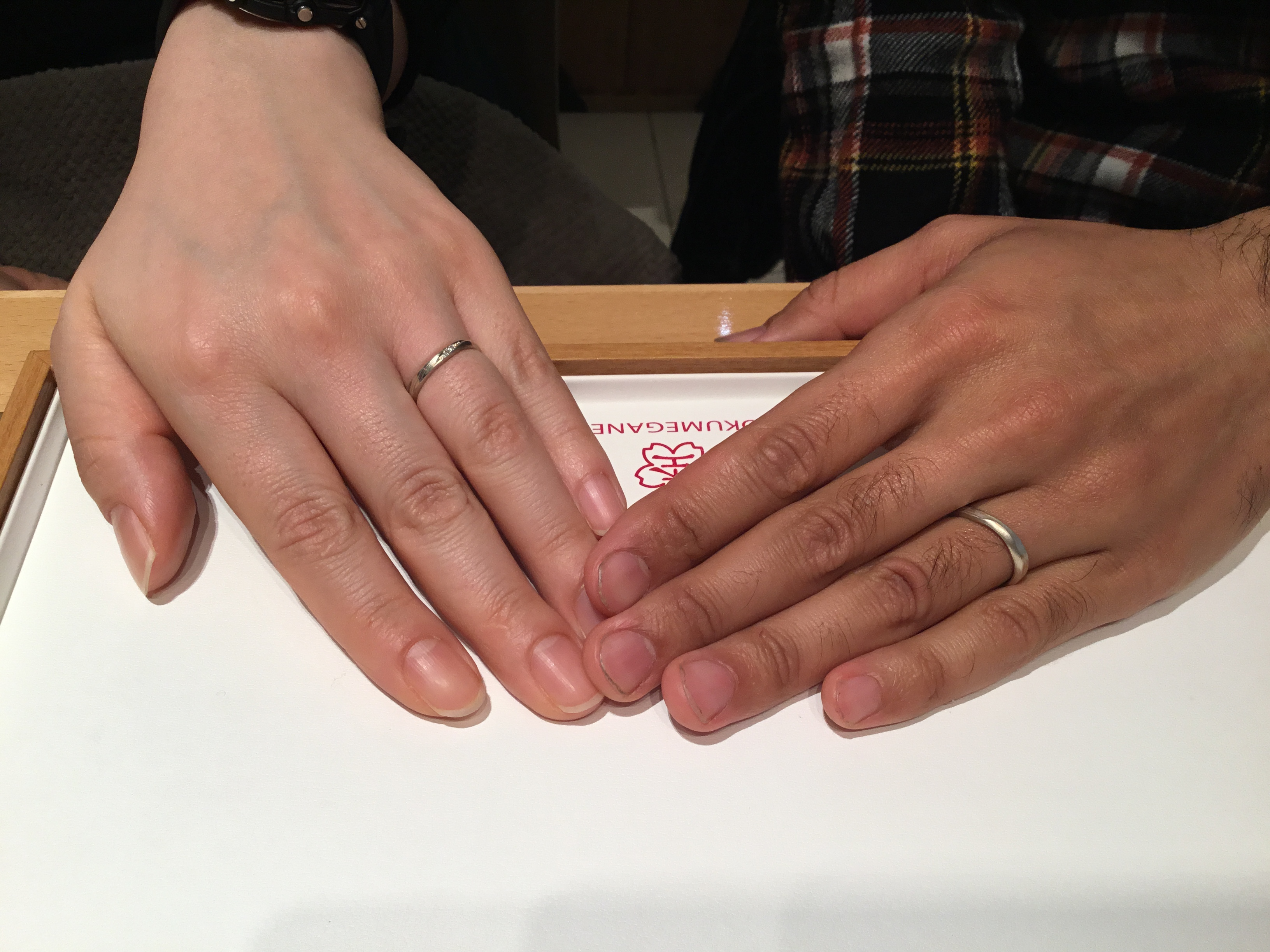 【上越市】杢目金屋(もくめがねや)のご結婚指輪をお作り頂きました!