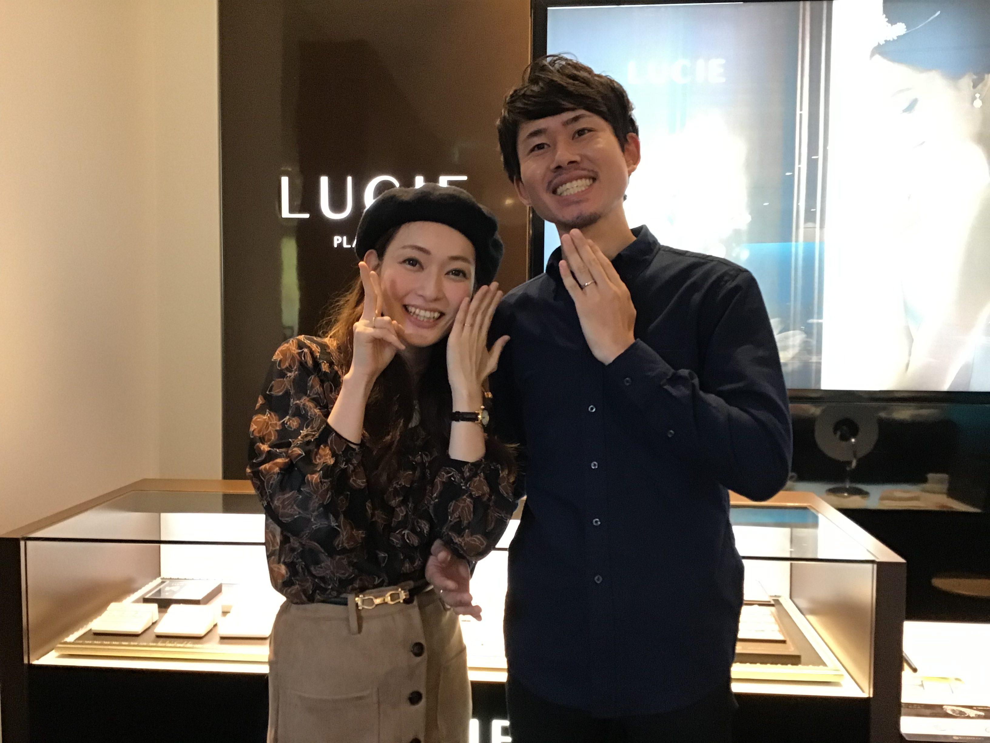 【飯田市】ルシエのマリッジリングをお作り頂きました!