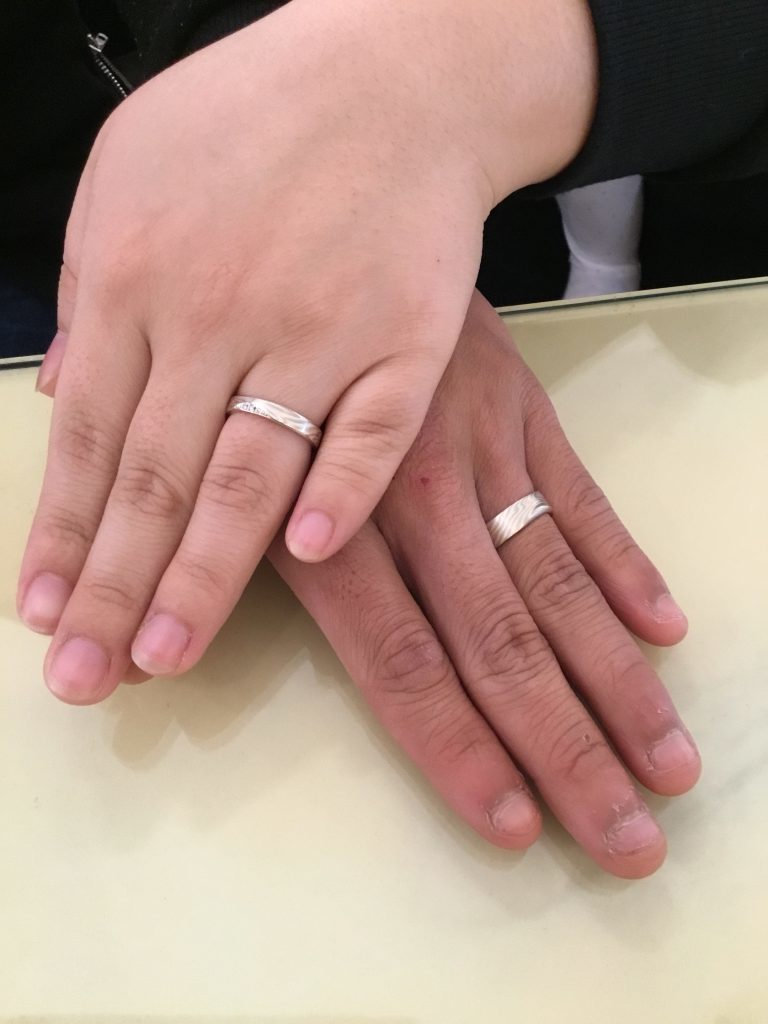 【長野市】杢目金屋のご結婚指輪をお選び頂きました!