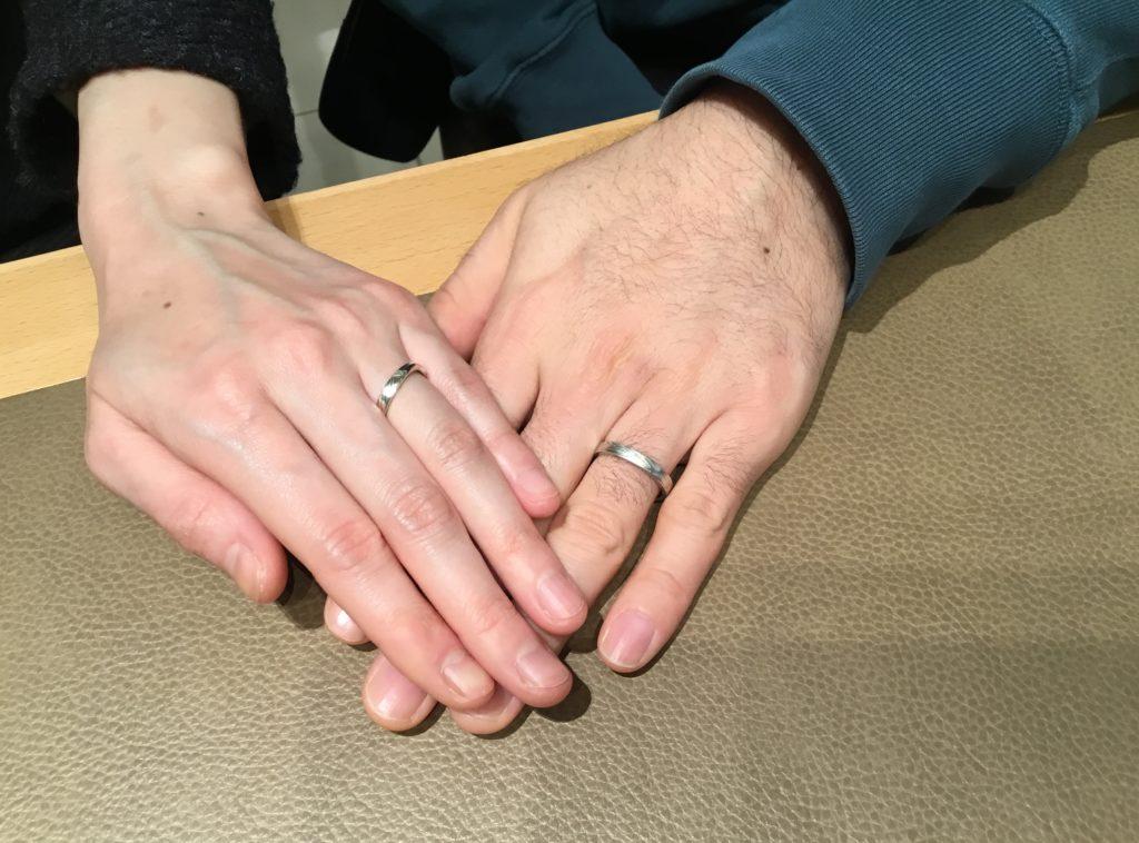 【上越市】杢目金屋のご結婚指輪をお作り頂きました!