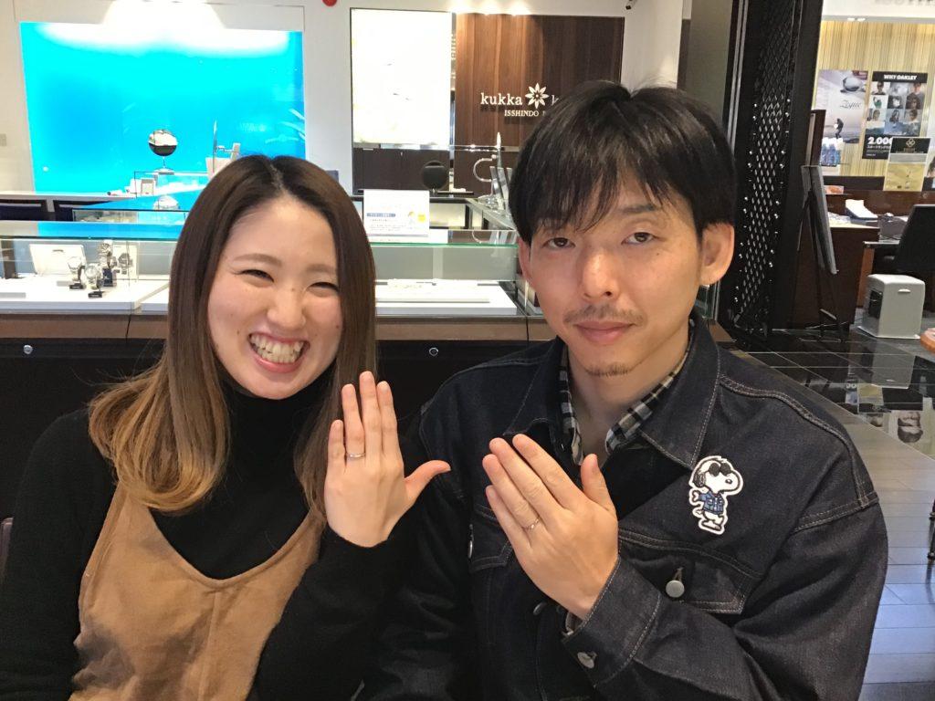 【飯田市】ノクルの結婚指輪をお作り頂きました!