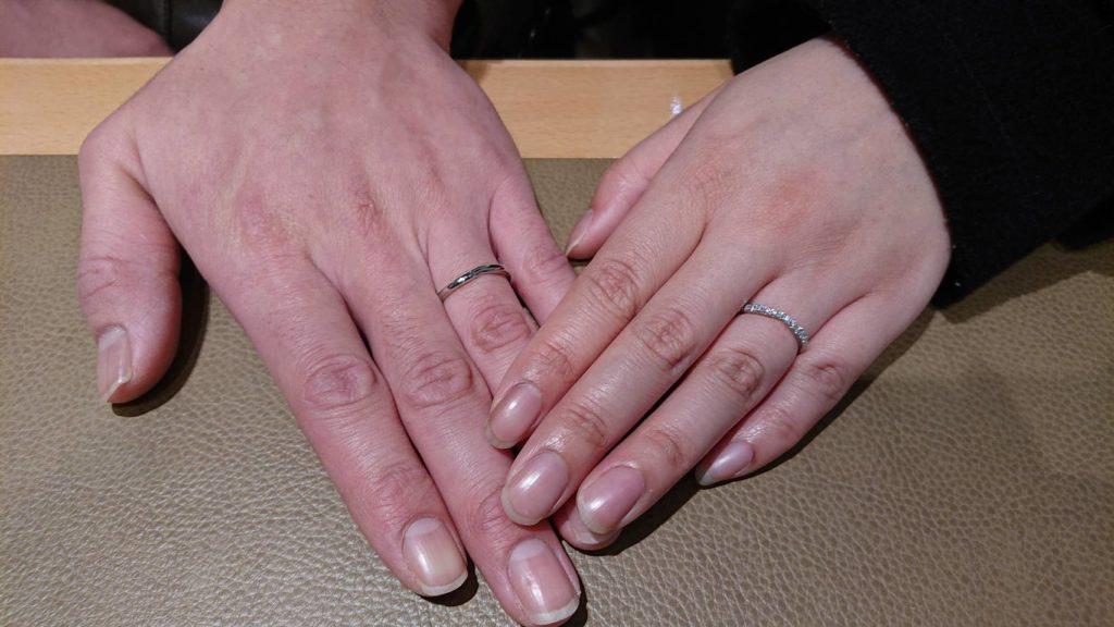 【千曲市】ポンテヴェキオのご結婚指輪をお作り頂きました!