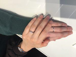 【飯田市】カフェリングの婚約指輪と結婚指輪をお作り頂きました!