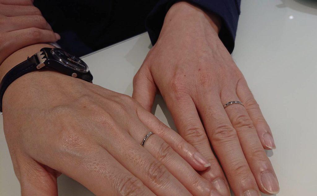 【長野市】カフェリングの結婚指輪をお作り頂きました!