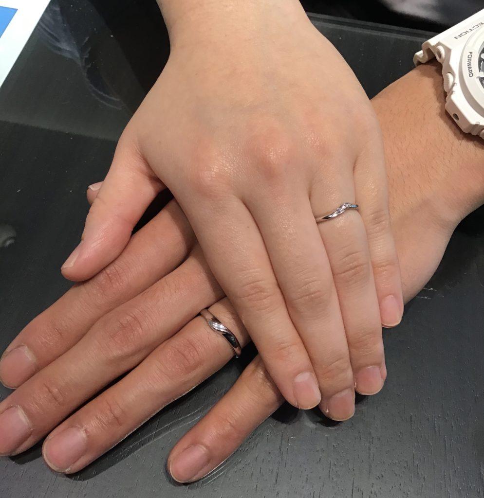【岡谷市】カフェリングの結婚指輪をお作り頂きました!