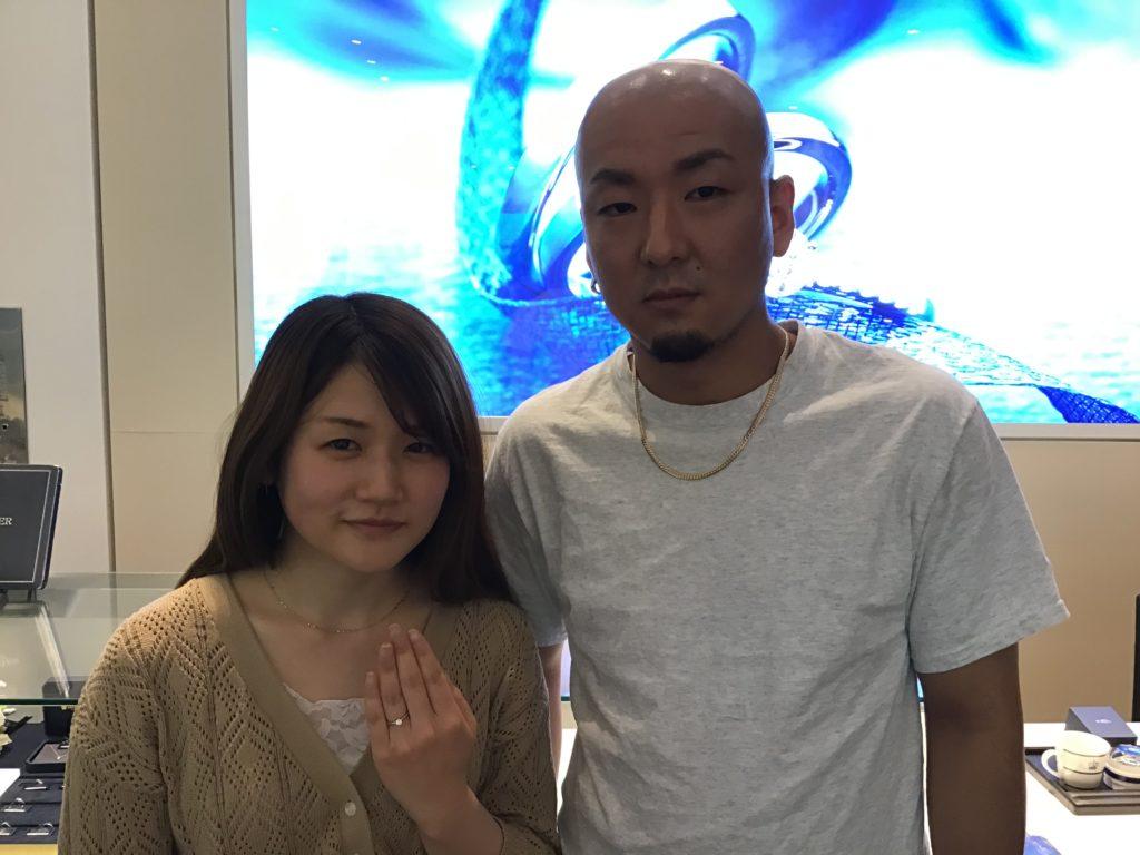 【飯田市】ロイヤルアッシャーの婚約指輪をお作り頂きました!