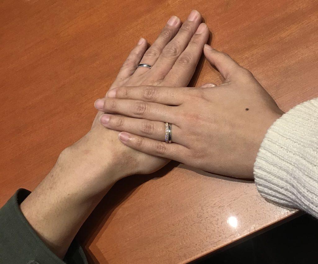 【飯田市】ルシエの婚約指輪、俄の結婚指輪をお作り頂きました!