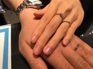 【長野市】ラザールダイヤモンドの結婚指輪をお作り頂きました!