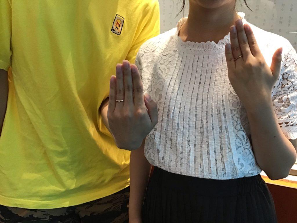 【飯田市】ルシエのご結婚指輪をお作り頂きました!