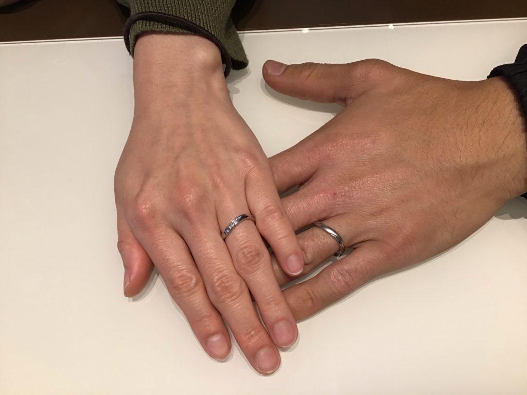 【飯田市】サムシングブルーのご結婚指輪をお作り頂きました!