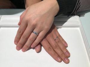 小諸市からお越しのM様 E様にロイヤルアッシャーの婚約指輪・結婚指輪をご成約いただきました!