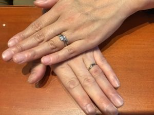 【飯田市】ノクルのご結婚指輪をお作りいただきました!
