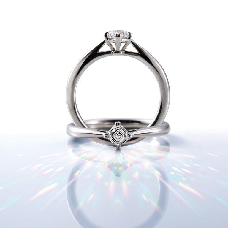 AC038|ロイヤルアッシャー婚約指輪