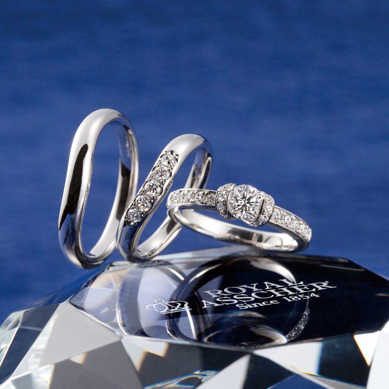 ERAR008 WRA010 WRB015|ロイヤルアッシャー婚約指輪・結婚指輪