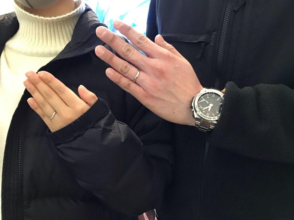 【飯田市】ロイヤルアッシャー のご結婚指輪をお作り頂きました!