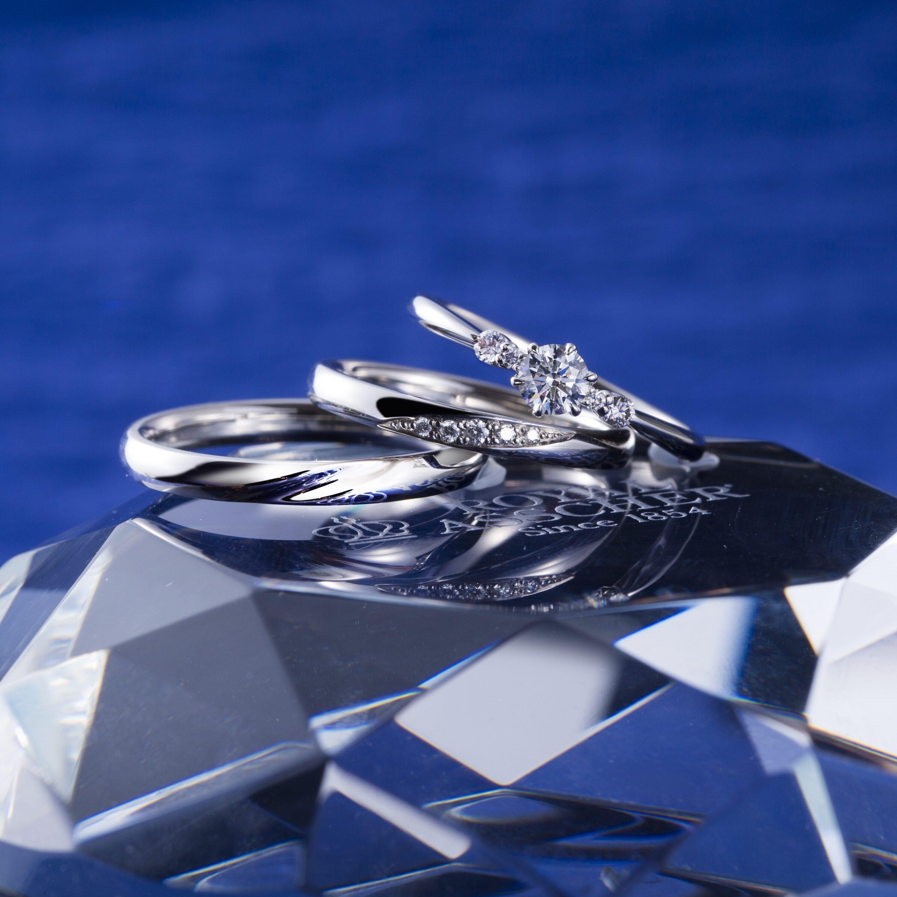 ERA814 WRA066 WRB076|ロイヤルアッシャー婚約指輪・結婚指輪