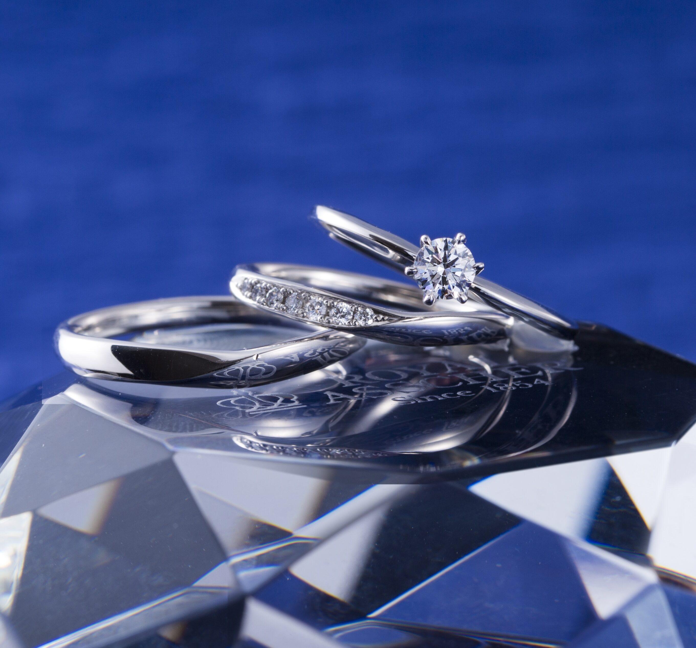 ERA809 WRA059 WRB069|ロイヤルアッシャー婚約指輪・結婚指輪