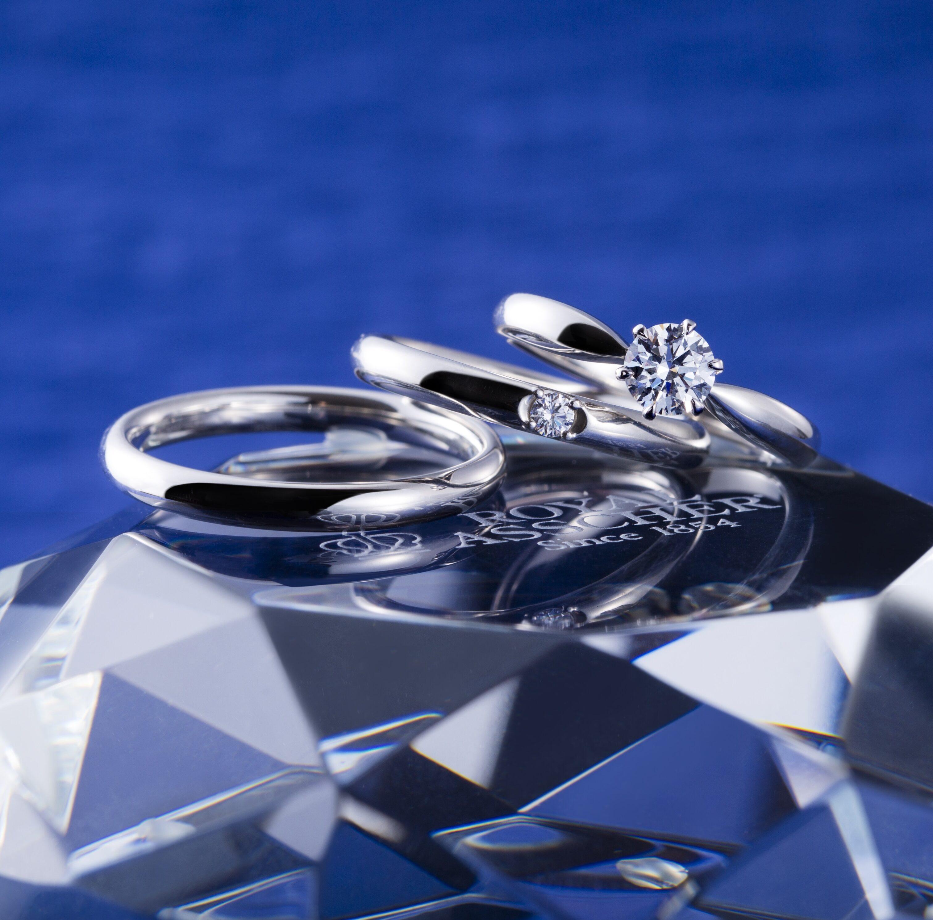 ERA260 WRA005 WRB008|ロイヤルアッシャー婚約指輪・結婚指輪