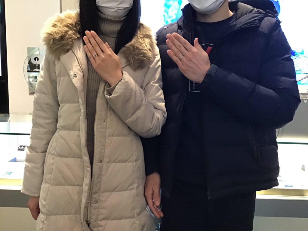 【飯田市】ロイヤルアッシャーのご結婚指輪をお作り頂きました!
