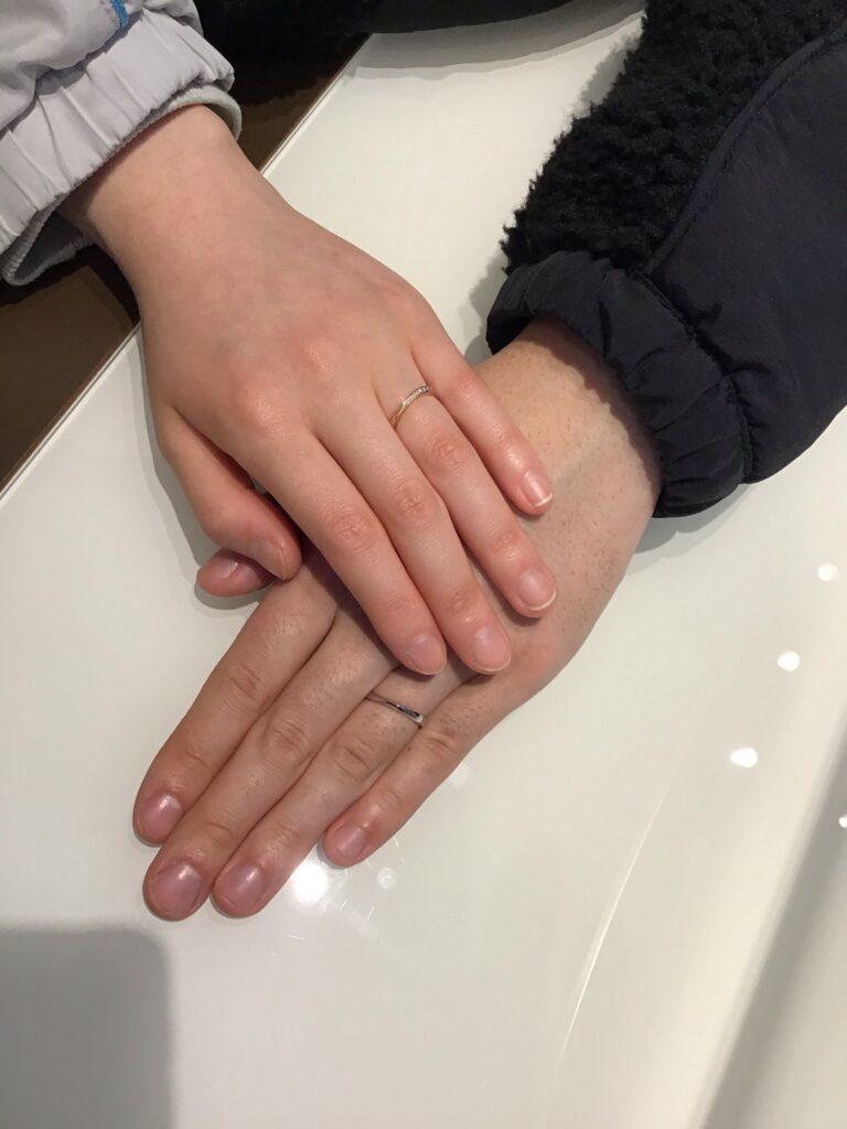 【飯田市】プルーヴのご結婚指輪をお作り頂きました!