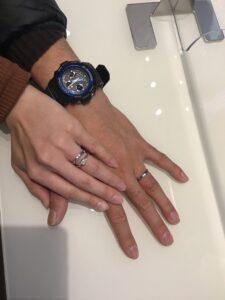 【飯田市】サムシングブルーのご結婚指輪をお作りいただきました!